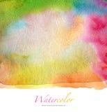 Αφηρημένο watercolor και ακρυλικό χρωματισμένο υπόβαθρο Στοκ Φωτογραφίες