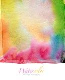 Αφηρημένο watercolor και ακρυλικό χρωματισμένο υπόβαθρο Στοκ Εικόνες