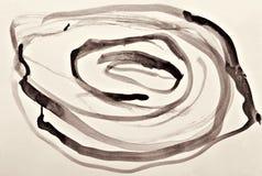 Αφηρημένο watercolor στη σύσταση εγγράφου ως υπόβαθρο Στη σέπια που τονίζεται αναδρομικό ύφος απεικόνιση αποθεμάτων
