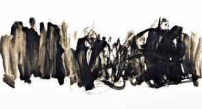 Αφηρημένο watercolor στη σύσταση εγγράφου ως υπόβαθρο Στον τόνο σεπιών Στοκ εικόνες με δικαίωμα ελεύθερης χρήσης