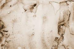 Αφηρημένο watercolor στη σύσταση εγγράφου ως υπόβαθρο Στον τόνο σεπιών Στοκ Εικόνες