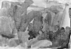 Αφηρημένο watercolor στη σύσταση εγγράφου ως υπόβαθρο Στο Μαύρο και απεικόνιση αποθεμάτων