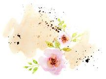 αφηρημένο watercolor στο άσπρο υπόβαθρο απεικόνιση αποθεμάτων