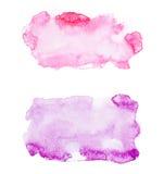 Αφηρημένο watercolor χρώμα τέχνης ακουαρελών συρμένο χέρι Στοκ φωτογραφία με δικαίωμα ελεύθερης χρήσης