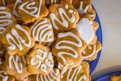 Αφθονία των μπισκότων της μορφής αστεριών Στοκ Εικόνα
