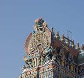 αφιερωμένο gopura ινδή Ινδία nadu meenakshi Λόρδου Madurai ένας άλλος νότιος sundareswarar tamil ναός γλυπτών στο δίδυμο πύργων π Στοκ Εικόνες