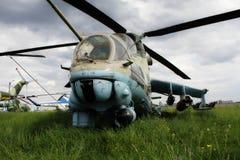 Αφοπλισμένο ελικόπτερο αγώνα Στοκ Φωτογραφία