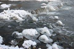 Αφρίζοντας ορμητικά σημεία ποταμού του ποταμού Στοκ Εικόνες