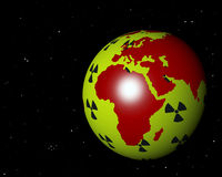 Αφρική Ευρώπη πυρηνική Στοκ εικόνες με δικαίωμα ελεύθερης χρήσης