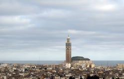 Αφρική Κασαμπλάνκα Hassan ΙΙ μουσουλμανικό τέμενος του Μαρόκου Στοκ Φωτογραφίες