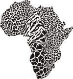 Αφρική σε μια ζωική κάλυψη Στοκ Εικόνες