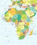 Αφρική - χάρτης - απεικόνιση Στοκ φωτογραφίες με δικαίωμα ελεύθερης χρήσης
