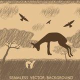 Αφρική gazelle άνευ ραφής Στοκ εικόνα με δικαίωμα ελεύθερης χρήσης