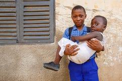 αφρικανικά αγόρια δύο Στοκ εικόνα με δικαίωμα ελεύθερης χρήσης