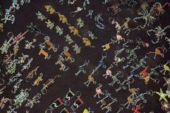 Αφρικανικά βασικά δαχτυλίδια τέχνης Στοκ εικόνες με δικαίωμα ελεύθερης χρήσης