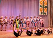 Αφρικανικά ζώα ιστορίας χορού παιδιών Στοκ Εικόνες
