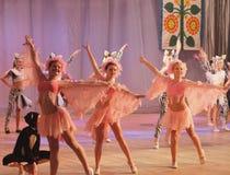 Αφρικανικά ζώα ιστορίας χορού παιδιών Στοκ εικόνα με δικαίωμα ελεύθερης χρήσης