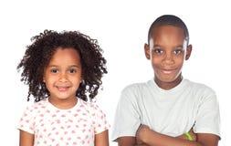 αφρικανικά παιδιά αδελφών Στοκ Εικόνες