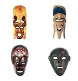 αφρικανικές μάσκες συλ&lam Στοκ εικόνα με δικαίωμα ελεύθερης χρήσης