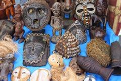 αφρικανικές μάσκες Στοκ Φωτογραφία