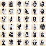 αφρικανικές μάσκες splotches Στοκ Φωτογραφίες