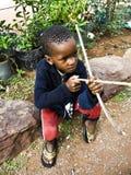 αφρικανική ένδεια παιδιών Στοκ Φωτογραφία