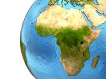 Αφρικανική ήπειρος στη γη Στοκ Εικόνες