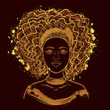 αφρικανική γυναίκα πορτρέ&t Στοκ φωτογραφία με δικαίωμα ελεύθερης χρήσης