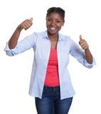 Αφρικανική γυναίκα Danicing Στοκ εικόνα με δικαίωμα ελεύθερης χρήσης