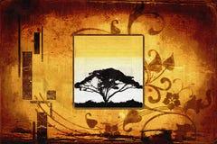 Αφρικανική εθνική αναδρομική εκλεκτής ποιότητας απεικόνιση Στοκ εικόνα με δικαίωμα ελεύθερης χρήσης