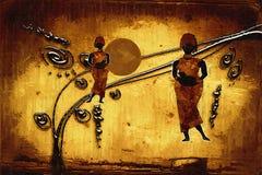 Αφρικανική εθνική αναδρομική εκλεκτής ποιότητας απεικόνιση Στοκ Εικόνα