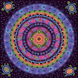 Αφρικανική, ινδική διακόσμηση Κυκλικό σχέδιο μέσα Στοκ Εικόνες