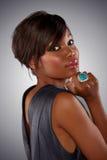 αφρικανική μακριά γυναίκα τριχώματος Στοκ εικόνες με δικαίωμα ελεύθερης χρήσης