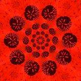 Αφρικανική τυπωμένη ύλη σχεδίου τύπων στο χρώμα τερακότας Στοκ Φωτογραφίες