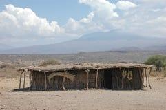 αφρικανική φυλή καλυβών στοκ εικόνα με δικαίωμα ελεύθερης χρήσης
