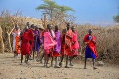 Αφρικανικοί λαοί από τη φυλή Masai Στοκ Φωτογραφία