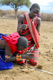 Αφρικανικοί λαοί από τη φυλή Masai Στοκ φωτογραφία με δικαίωμα ελεύθερης χρήσης