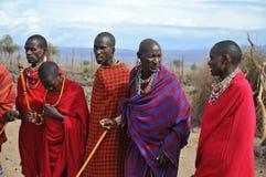 Αφρικανικοί λαοί από τη φυλή Masai Στοκ εικόνες με δικαίωμα ελεύθερης χρήσης