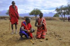 Αφρικανικοί λαοί από τη φυλή Masai Στοκ Φωτογραφίες