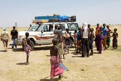 Αφρικανικοί λαοί και τουρισμός Στοκ φωτογραφίες με δικαίωμα ελεύθερης χρήσης