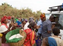 Αφρικανικοί λαοί και τουρισμός Στοκ Εικόνες