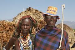 Αφρικανικοί σύζυγος και σύζυγος Στοκ φωτογραφία με δικαίωμα ελεύθερης χρήσης
