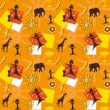 αφρικανικός άνευ ραφής Στοκ Εικόνες