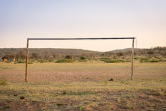 Αφρικανικός αγωνιστικός χώρος ποδοσφαίρου Στοκ Φωτογραφία
