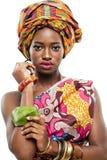 Αφρικανικός-αμερικανικό μοντέλο μόδας. Στοκ Φωτογραφία