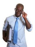 Αφρικανικός επιχειρηματίας στην εργασία Στοκ Εικόνες