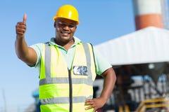Αφρικανικός εργάτης οικοδομών Στοκ φωτογραφία με δικαίωμα ελεύθερης χρήσης