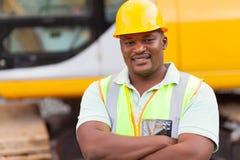 Αφρικανικός εργαζόμενος ορυχείων Στοκ φωτογραφία με δικαίωμα ελεύθερης χρήσης