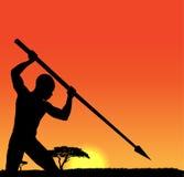 Αφρικανικός κυνηγός Στοκ Φωτογραφία