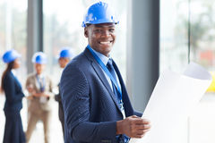 Αφρικανικός μηχανικός κατασκευής Στοκ εικόνα με δικαίωμα ελεύθερης χρήσης